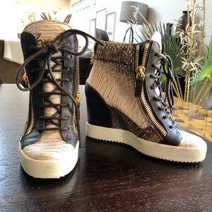 Giuseppe Zanotti High Top Wedge Sneakers